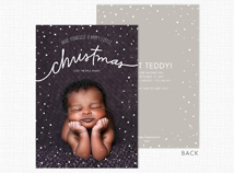 "A Happy little ""christmas"" Flat Photo Holiday Card"