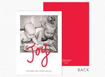 """Joy"" Flat Photo Christmas Card"