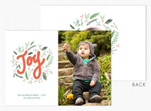 """Joy"" Flat 2 Photo Holiday Card"