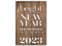 Rustic New Year Holiday Cards