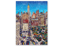 American Artist - View up Fifth Holiday Cards