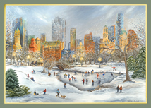 American Artist - Central Park Snow Holiday Cards
